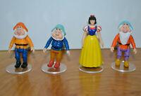 Disney Town Square SNOW WHITE & THREE DWARFS Miniatures Figures Disney World