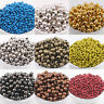 20-200Pcs Plated Alloy Round Spacer Loose Charm Beads Findings DIY 3 4 5 6 8mm