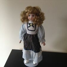 "Heritage Mint Collection Porcelain Doll with Stand 16"" 1988-1989"