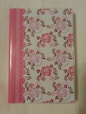 "Journal 152 Lined Sheets, 6"" x 4"" Pink Flower Polyvinyl Cover"