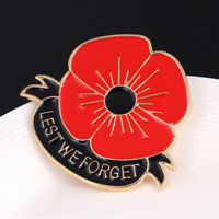Red Poppy Flower Brooch Pin Broach Lapel Enamel Remembrance Badge Banquet YK87