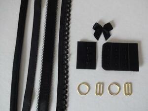Bh Kurzwarenpaket schwarz 3,bra findings kit