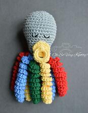 "Handmade Amigurumi Preemie-Buddy, Baby Toy Octopus Crochet Stuffed 7"""
