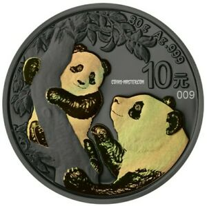 2021 30 Grams Silver ¥10 Chinese GOLDEN PANDA Ruthenium Numbered Coin.