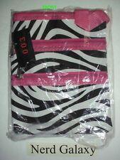 Zebra Print Pink Passport Crossbody Messenger Bag Purse, NEW!  FREE SHIPPING!