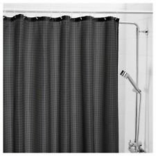 IKEA SAXALVEN Fabric Shower Curtain BLACK Polyester Soft drape CLASSIC freesh