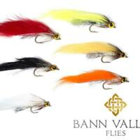 BANN VALLEY QUALITY TROUT FLIES STREAMERS MINKIE FRY PATTERNS  X3