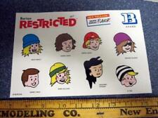 BURTON snowboard RESTRICTED 2011 promo BIG team stickers New Old Stock Mint Cond