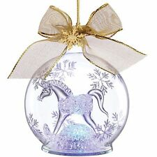 Lenox 2014 Baby's 1st First Christmas Ornament Crystal Rocking Horse Lighted NEW