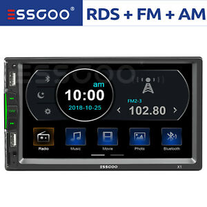 """7"""" Double 2 DIN Car MP5 Player Bluetooth Touch Screen Stereo Radio FM SD AUX USB"""