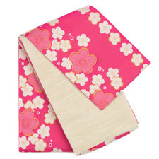 Japanese Women's Traditional Yukata Kimono Hakama Shita Obi Belt Pink