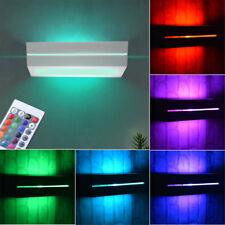 RGB LED Wand Lampe Keramik Fernbedienung Wohn Zimmer  UP DOWN Strahler dimmbar