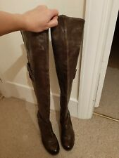 Gixus Leather Over The Knee Boots Size 4