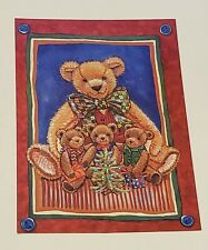 Lot of 18 Christmas Card American Greetings Without Envelope Teddy Bear Tree