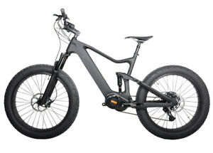 "26er Carbon Fat Bike Sram Suspension Ebike Bafang Bicycle 1000W 16"" 12 speeds"