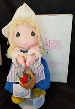PRECIOUS MOMENTS DUTCH DOLL ULLA 1987  by APPLAUSE 16033 in Box with Stand
