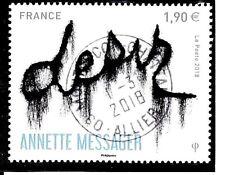 NOUVEAUTE FRANCE 2018 - TAB ANNETTE MESSAGER 1.90e  (Oblitéré Beau cachet rond )