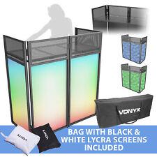 Vonyx Folding DJ Screen Facade Booth System with Mixer Shelf & Bag, Lycra Disco