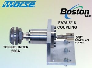 Morse Boston Torque Limiter Assembly 250A Drive to Driven  Custom live reducer