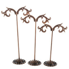 3 Espositore Stand Porta Orecchini Colore Rame in Acciaio Inox K0S1
