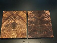 1) Small Pair Bookmatched Nice Figured Burl Black Walnut Knife Scales Grips