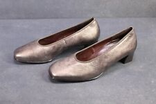 C1159 Theresia M. Damen Pumps Leder bronze metallic Gr. 40  6,5 H Wechselfußbett