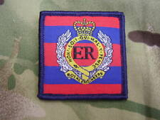 Royal Engineers RE Army Cap/Beret Badge On Regimental ID TRF Combat Jacket Patch