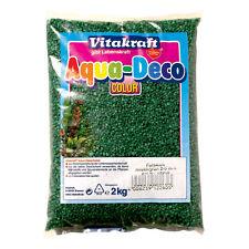 Vitakraft Gravier - 2 kg - Vert menthe - pour aquarium blanc-gravier Terre de