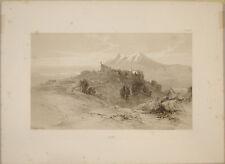 Stampa antica Albe Massa d'Albe Abruzzo Lear engraving gravure italy incisione