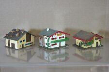 FALLER KIBRI N SCALE DB SBB SMALL TWO STORY COUNTRY FARM HOUSE MODEL x3 SET 2 mv
