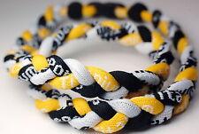 "20"" Black Yellow White Titanium Sport Necklace Tornado Germanium FREE SHIPPING!"