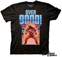 Dragon Ball Z Guko Over 9000! DBZ Dragonball Anime Licensed Adult Shirt S-2XL