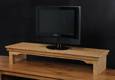 TV Riser Stand, Laptop Stand, Soundbar Traditional Style Oak Wood