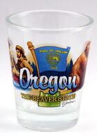 OREGON BEAVER STATE ELEMENTS SHOT GLASS SHOTGLASS