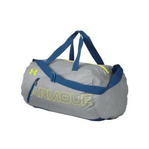 *NEW* UNDER ARMOUR UA PACKABLE DUFFLE DUFFEL BAG 1256394-036 GRAY AND BLUE