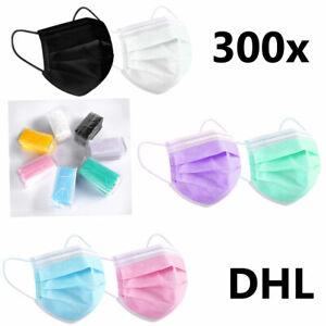 500/300/50 Stück 3 Lagig Mundschutz Masken Maske Einwegmaske Nasenschutz Hygiene