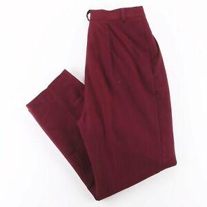 Vintage FUNDAMENTAL THINGS  Maroon Woven Regular Mom Pants Womens W28 L27