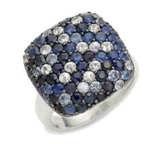 NEW! Effy Sterling Silver & Blue/White Sapphire Ring/ Size 7 / $875