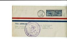 CAM8 S2 Portland OREGON 1926 First Flight Cover to Los Angeles / Buffalo !!