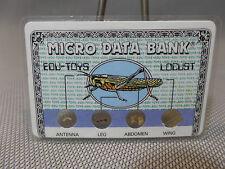 EDU-TOYS,MICRO DATA BANK, locust format carte de crédit plastifiée