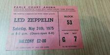 Led Zeppelin Earls Court 1975 Ticket stub vintage Rare