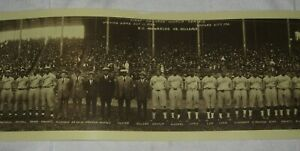 FIRST COLORED WORLD SERIES 1924 (NEGRO LEAGUES) PANORAMIC FULL ROSTER PICTURE