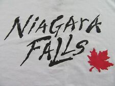 NIAGARA FALLS CANADA Maple Leaf Logo Vacation Souvenir T Shirt Size L