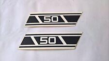 2 x Cache YAMAHA RD50 Panneau latéral autocollant emblème 2l4-21737-00 77-79.