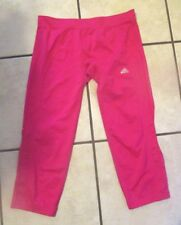 ADIDAS Climalite 3/4 leggings GORGEOUS detail HOT Pink  Size 12