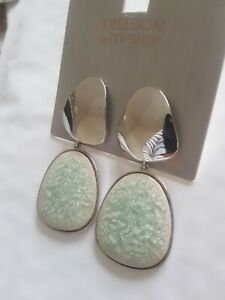 Freedom At Topshop Ceramic Stone Earrings