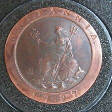 More details for 1797 cartwheel 2 penny coin king george i soho mint boxed with capsule cc1