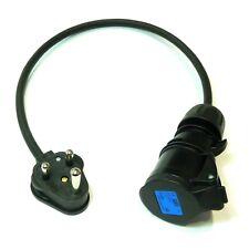 Clavija Redonda 15A a 16A Negro de goma 1.5mm Zócalo Industrial Iluminación de la etapa