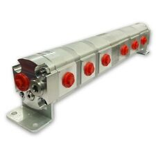 Geared Hydraulic Flow Divider 6 Way Valve 60ccrev With Centre Inlet