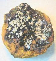 Wulfenite Crystals with Calcite Crystals from Mexico for Display Specimen 10